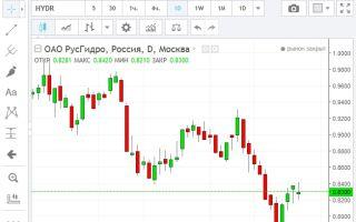 Онлайн-график котировок акций «РусГидро» и их особенности